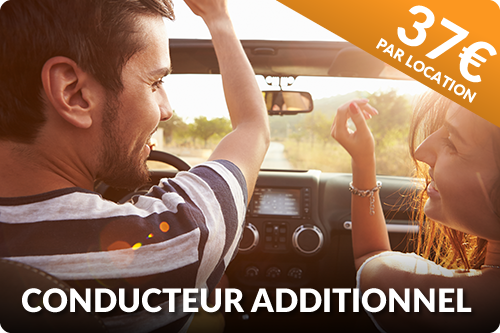 Option second conducteur pour location de voiture